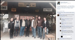 Daxter Reed is on the far right of this pic hanging out with like-minded folks, including neo-Nazi Matthew Heimbach third from right, and Scott Terry, next to Heimbach wearing the brown hoodie, who is best known for going to CPAC in 2013 with Heimbach and defending slavery.